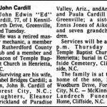 Cargill, John Edwin (Ed), Mar. 7, 1978