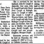 Cargill, Perrie Dene, Dec. 23, 2007