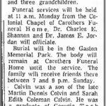 Colvin, Dennis Coleman, Oct. 5, 1968
