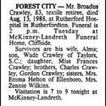 Crawley, Broadus, Aug. 13, 1988