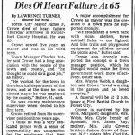 Crowe, James F., July 9, 1981