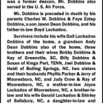 Dobbins, Dean, Feb. 9, 2011