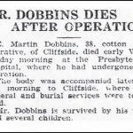 Dobbins, E. Martin, Jul. 19, 1922