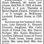 Edwards, Betty Jones, Feb. 9, 1993