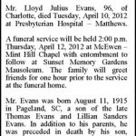 Evans, Lloyd Julius, Apr. 10, 2016