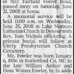 Fowler, Wm. A., Jr., June 21, 2008