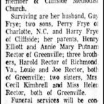 Frye, Tennie Rector, Dec. 12, 1960