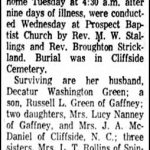 Green, Mary Rudisill, Dec. 18, 1962