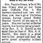 Green, Nannie, Feb. 8, 1905
