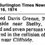 Greene, Fred, Sep. 16,1974