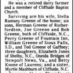 Greene, Nollie D., Jan. 17, 1984
