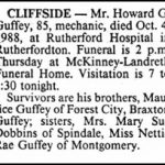 Guffey, Howard G., Oct. 4, 1988