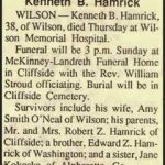 Hamrick, Kenneth Bruce, Oct. 15, 1992