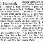 Hamrick, Kester E., Sep. 11, 1958