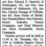 Hamrick, Margaret Scruggs, Oct. 10, 1995
