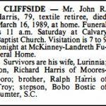 Harris, John R., Mar. 16, 1989