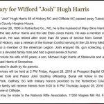 Harris, Wifford Hugh, Aug. 23, 2016