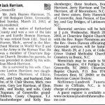 Harrison, Jack Haynes, Mar. 23 ,2003