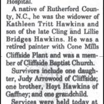 Hawkins, James Everette 'Wormy', Nov. 3, 1997