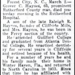 Haynes, Grover Cleveland., Mar. 3, 1950