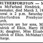 Hendrick, Lela McFarland, Mar. 4, 1988