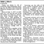 Hicks, Walter Lee, Jr., Jan. 25, 2006