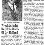 Holland, Dr. T. C., Sep. 7, 1956
