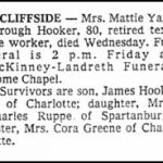 Hooker, Mattie Yarborough, Jan. 7, 1981