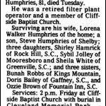 Humphries, Gotha O., Dec. 10, 1985