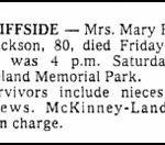 Jackson, Mary Harper, Dec. 19, 1980