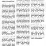 Jolly, Robert Leonard, Mar. 3, 2011