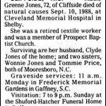 Jones, Macie Greene, Sep. 10,1988
