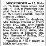Kirby, J. L., Sep. 4, 1988