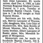 Lancaster, William Jesse, Dec. 4, 1988