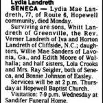 Landreth, Lydia Mae, Mar. 29, 1982