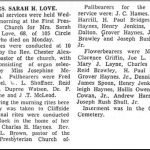 Love, Sarah Haynes, Oct. 1,1948