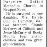 McCurry, Lee Roy, Feb. 4, 1982