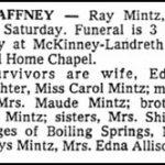 Mintz, Ray, Mar. 28, 1981