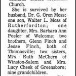 Moss, Anna Finch, Jan. 9, 1980
