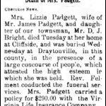 Padgett, Lizzie, Mar. 27, 1905