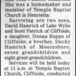 Patrick, Mary Hamrick, June 14, 2003
