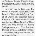 Powell, Charlie Houston, June 7, 1996