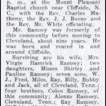Ramsey, Arthur B, June 21, 1936