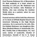Robinson, Fred Thomas, Oct. 9, 1954
