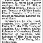 Robinson, Jimmie, Nov. 26, 1988
