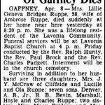 Ruppe, Lillie Bridges, Apr. 8, 1948