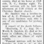 Sanders, Worth R., Aug. 26., 1934