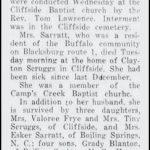 Sarratt, Carrie Blanton, May 4, 1948