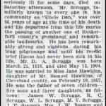 Scruggs, Dan A., May 14, 1904