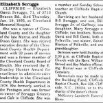 Scruggs, Elizabeth Gantt, Jan. 19, 1995